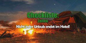 Checkliste fürs Zelten