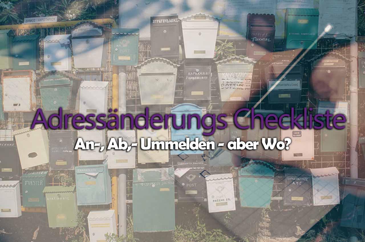Checkliste für Adressänderung