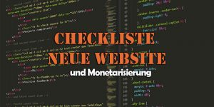 Checkliste neue Website