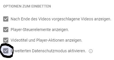 DSGVO Checkliste Youtube