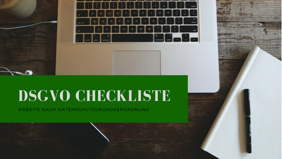 DSGVO Checkliste für Websites